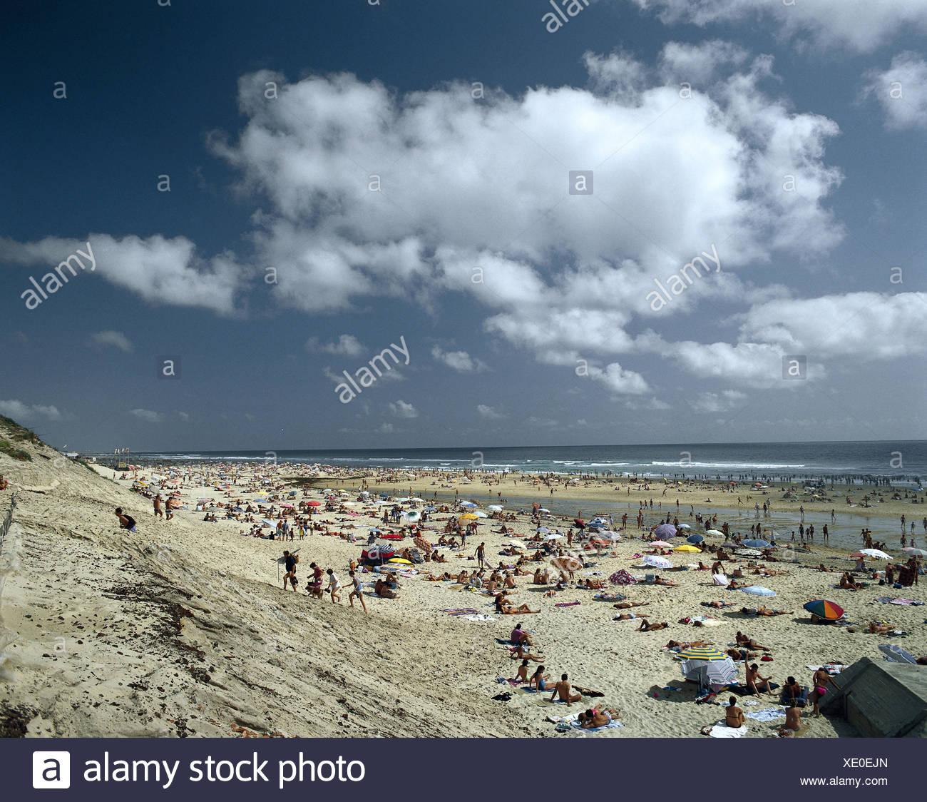 FE Atlantic coast, Biscarosse, beach - Stock Image