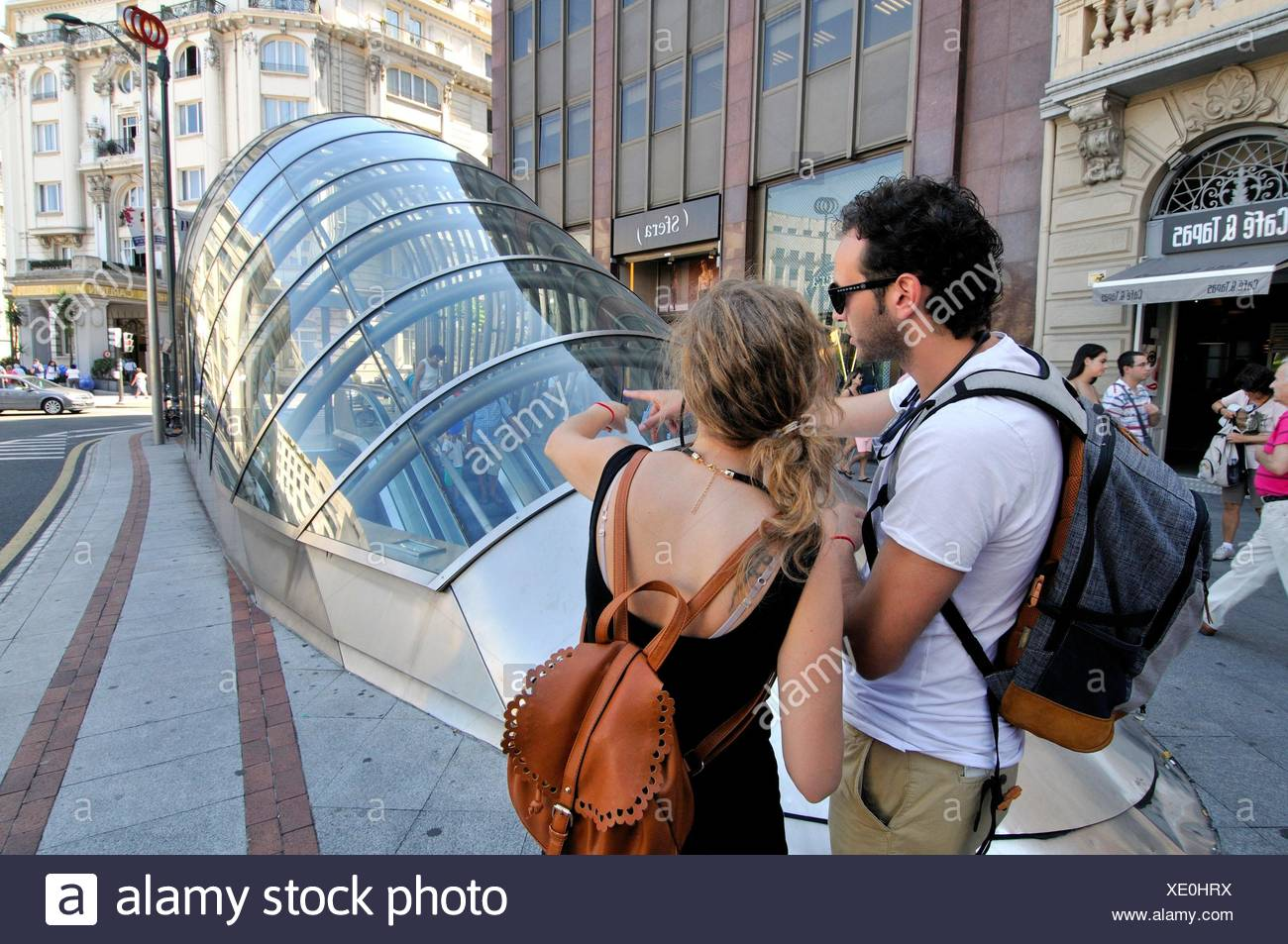 Subway entrance (aka ´fosterito´) by architect Norman Foster, Bilbao. Biscay, Basque Country, Spain Stock Photo