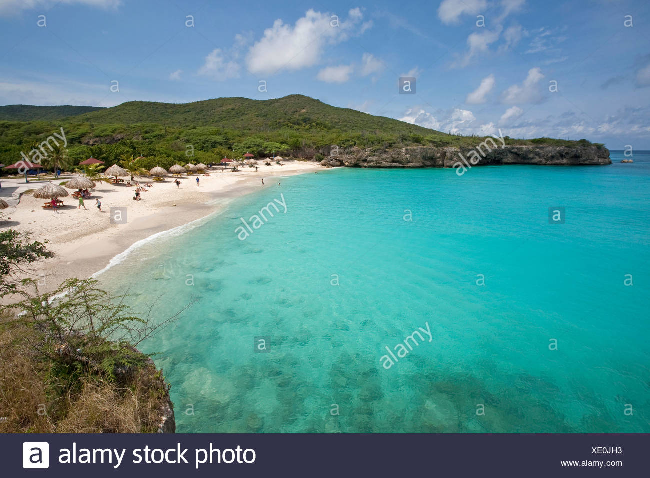 Grote Knip beach, also called Playa Abou beach, Curacao, former Netherlands Antilles, Caribbean Stock Photo