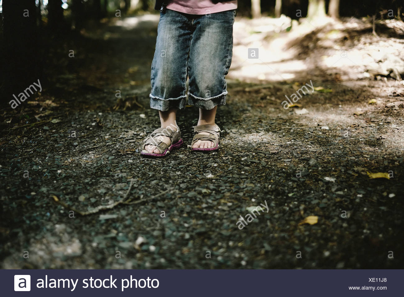 d4963a243f924e Close-Up Of Young Girl s Feet In Sandals On A Forest Trail Thetford Mines