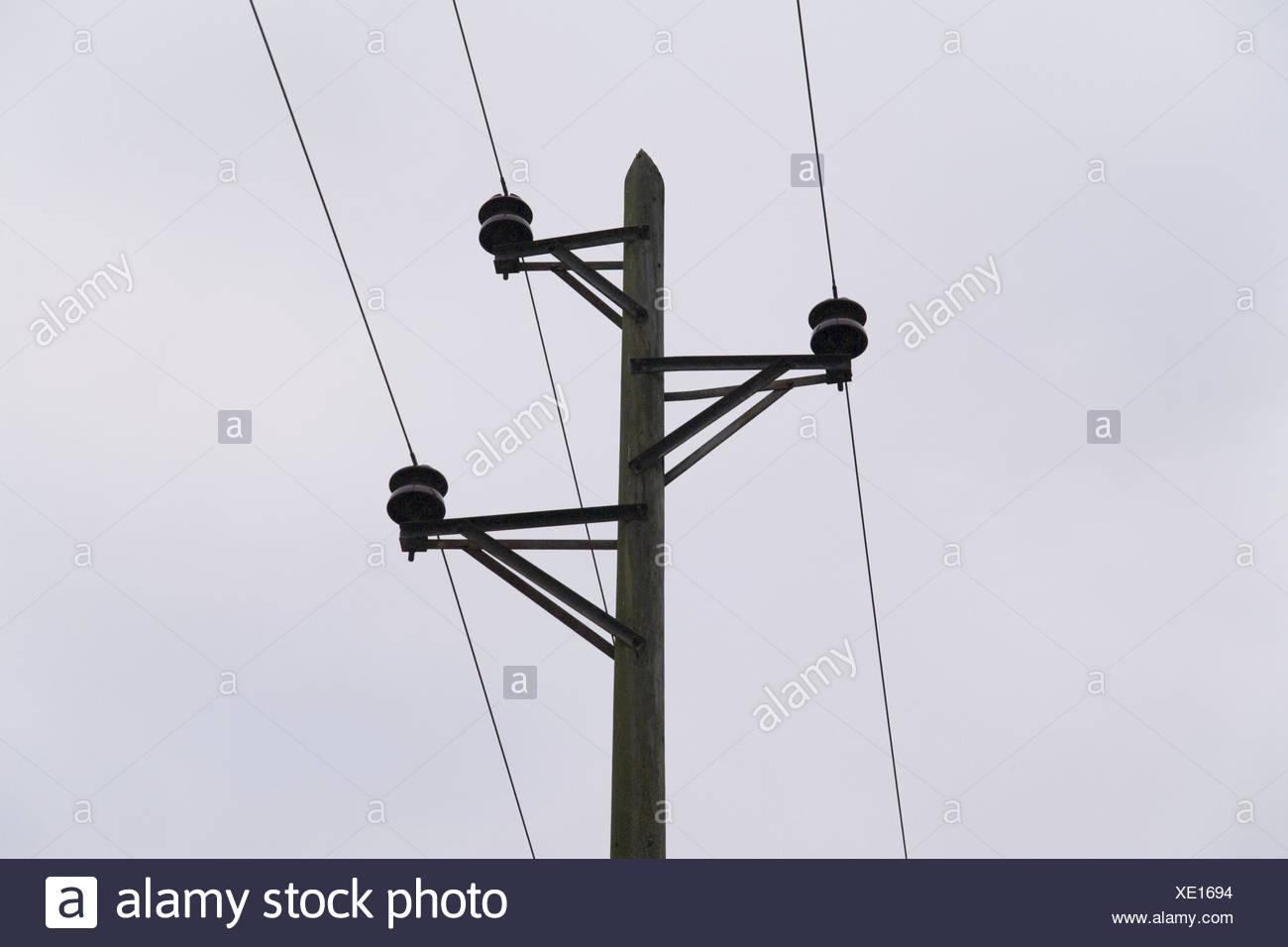 Wooden Power Poles Stock Photos & Wooden Power Poles Stock ...
