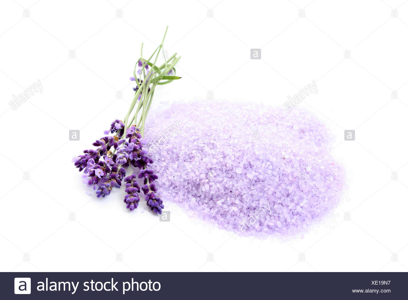 lavender,bath salt - Stock Image