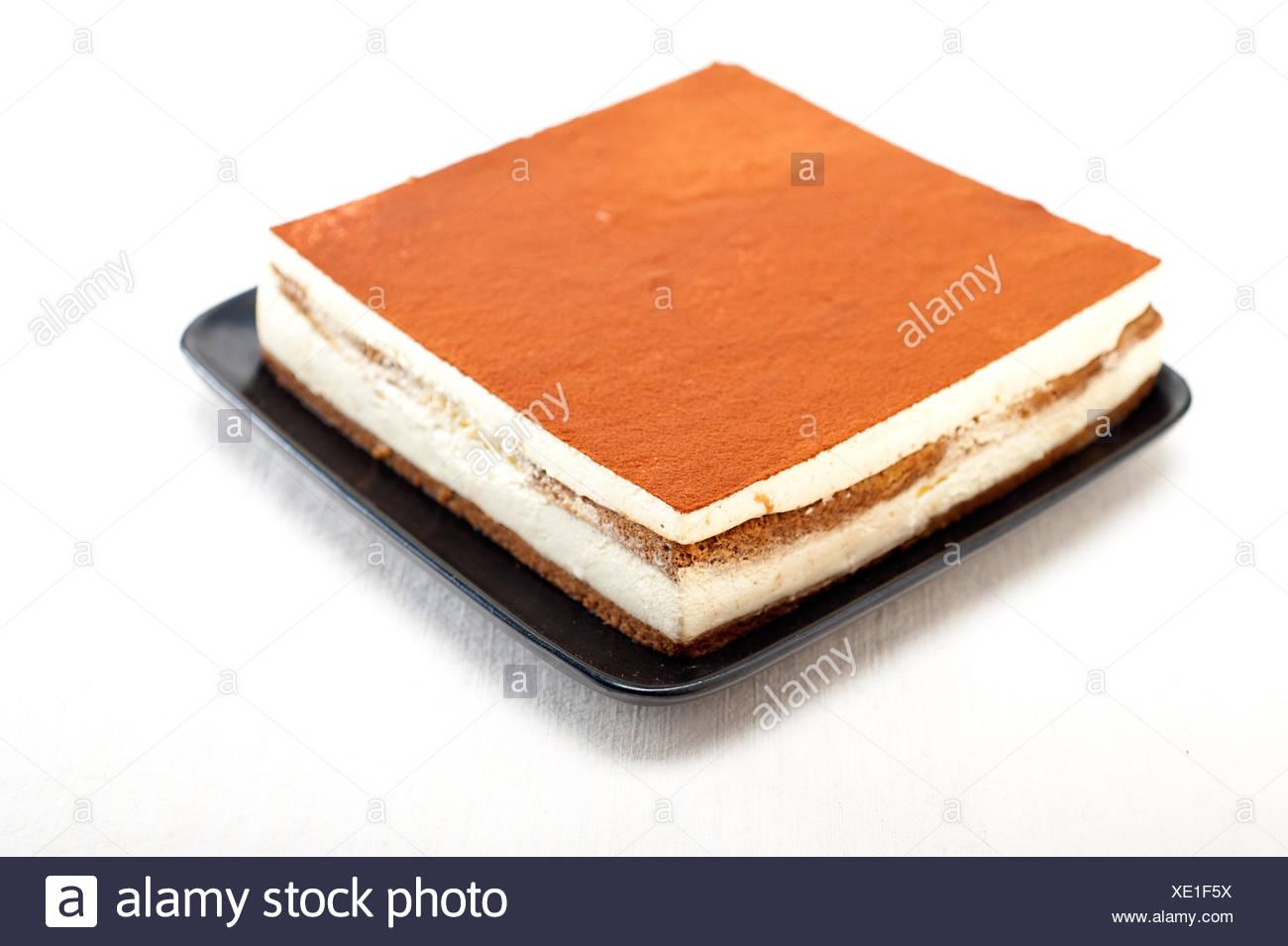 home made tiramisu dessert - Stock Image