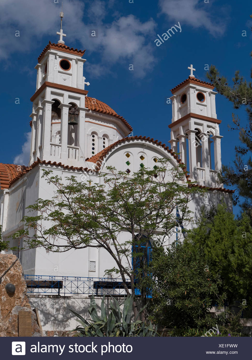 Aptera, Chania, Christianity, church, Greece, Europe, Greek-orthodox, Crete, cross - Stock Image