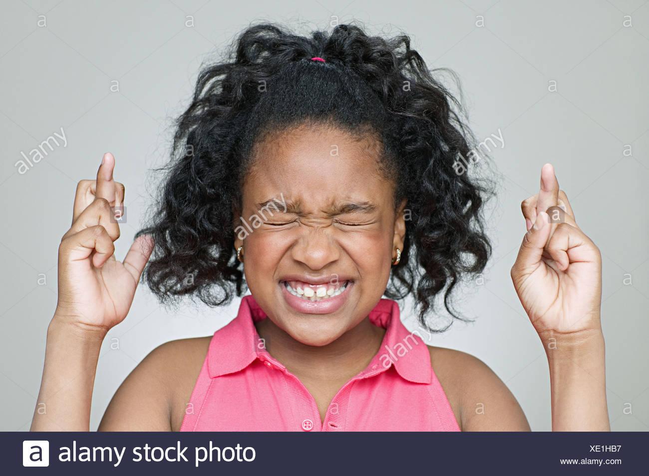 Black girl fingers
