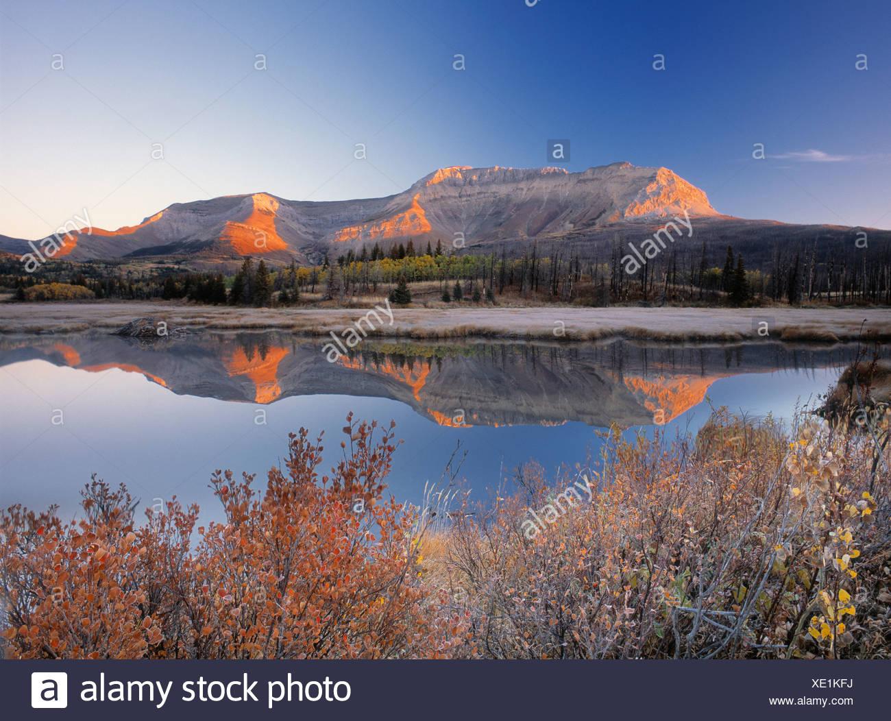Sofa Mountian, Waterton Lakes National Park, Alberta, Canada Stock Photo