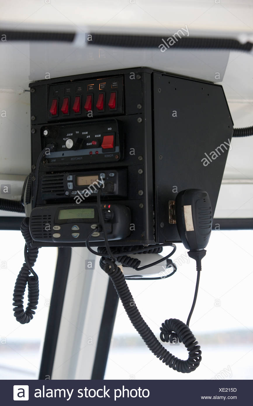 CB radio in a security boat Stock Photo: 284015913 - Alamy