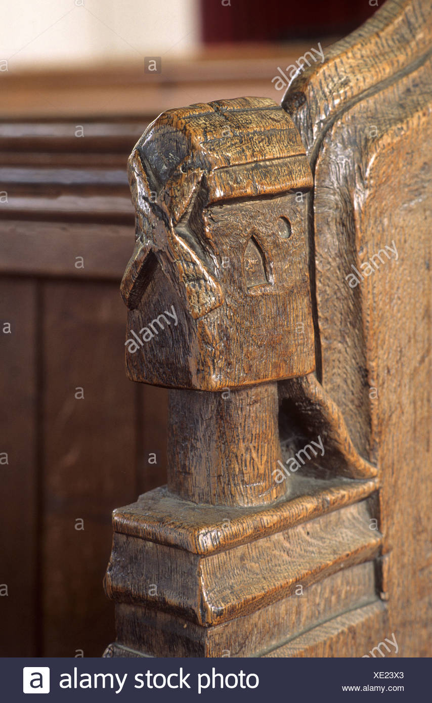 Th century wood carving stock photos