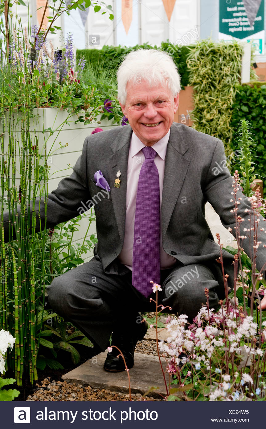 Roy Lancaster, OBE, VMH, plantsman, plant hunter, Radio and TV broadcaster. - Stock Image