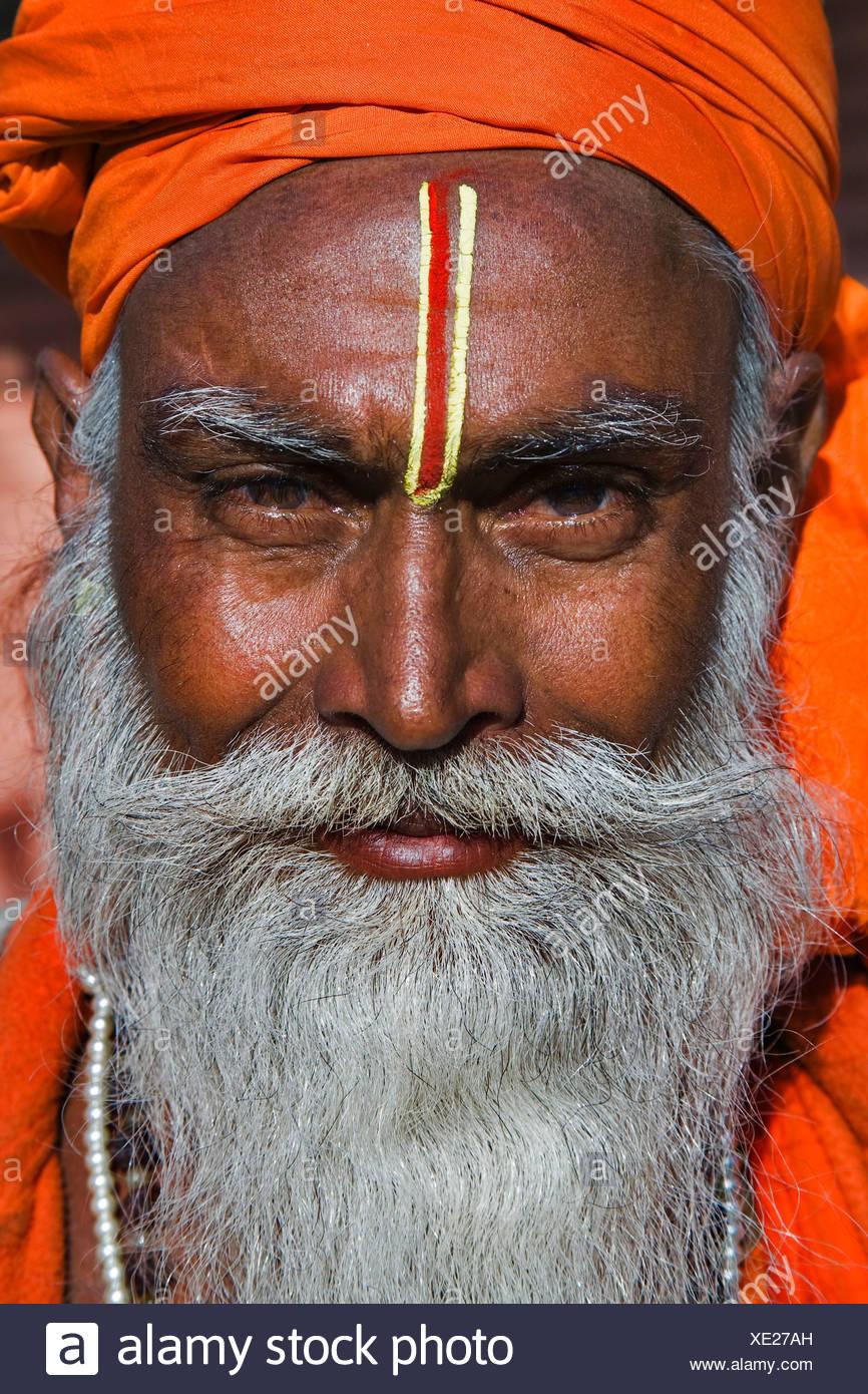 Indian man, Sadhu, Jaipur, India - Stock Image