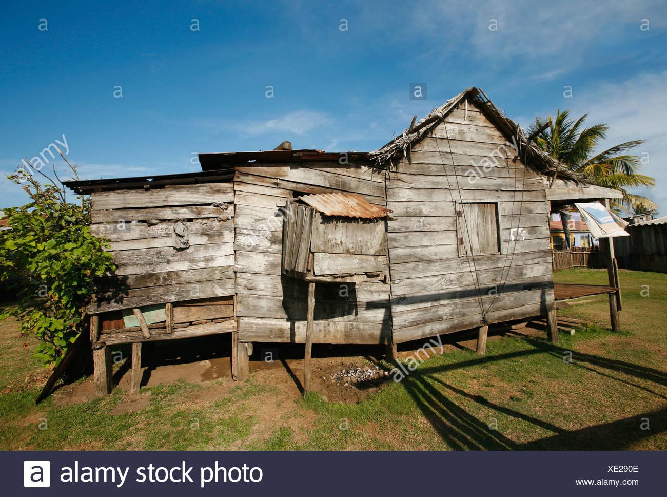 Tasbapauni, Nicaragua; House in disrepair - Stock Image