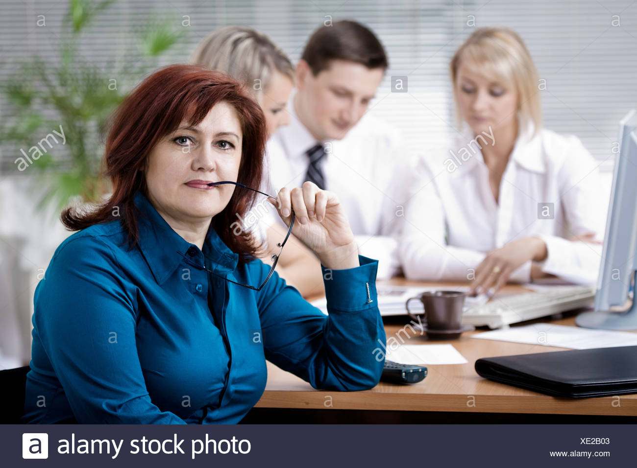 office team Stock Photo