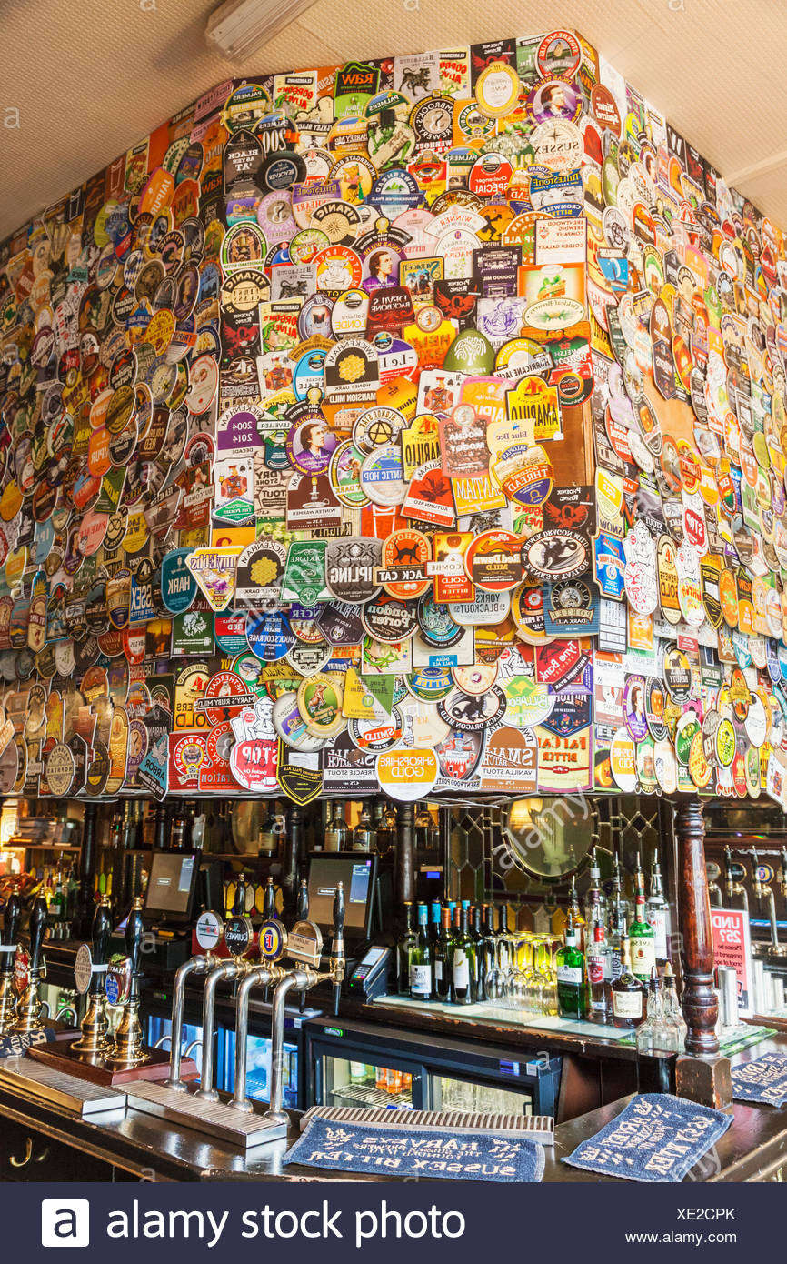 England, London, Pub Interior - Stock Image