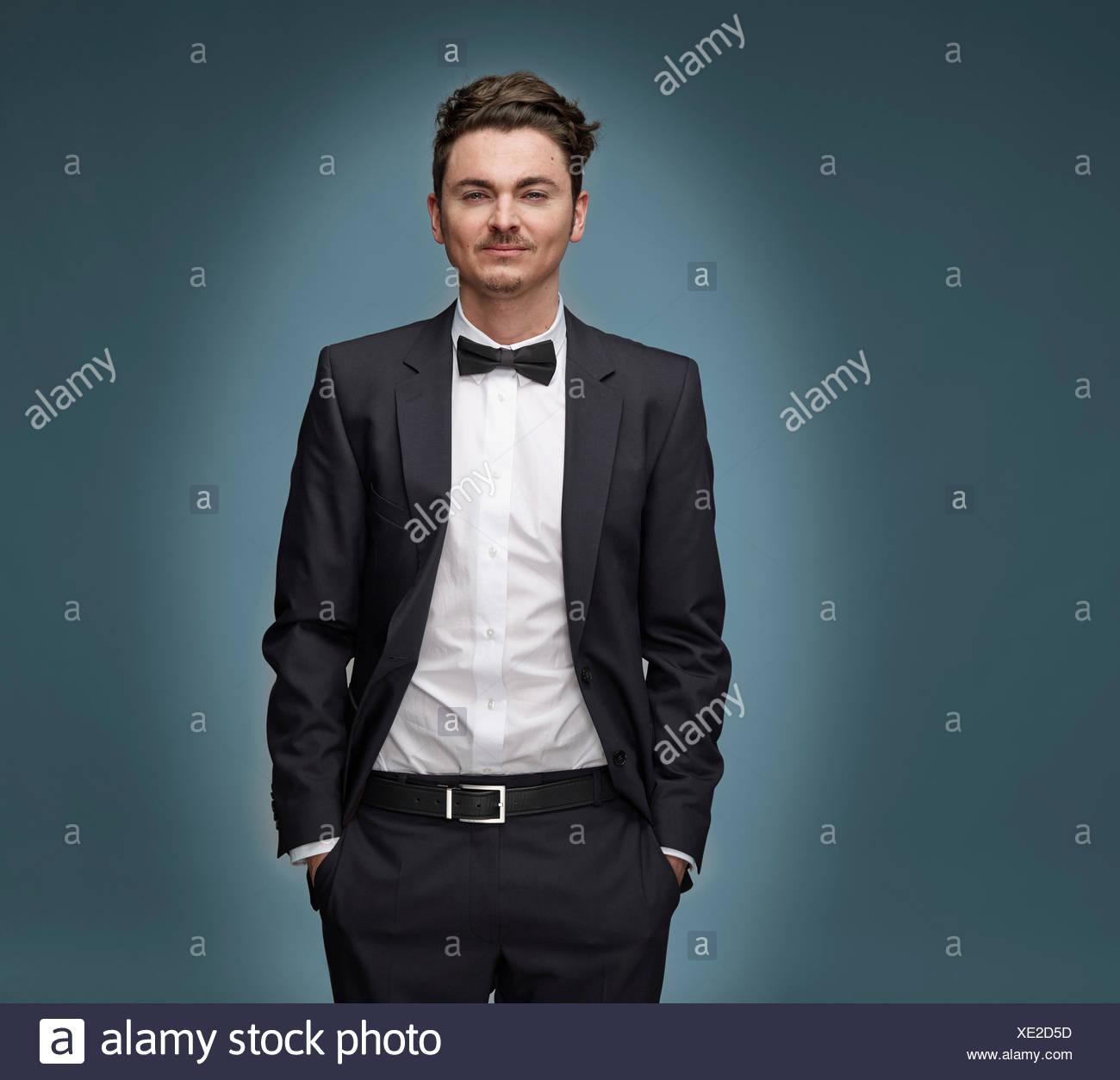 Portrait Suit Tie Bow Tie Stock Photos & Portrait Suit Tie Bow Tie ...