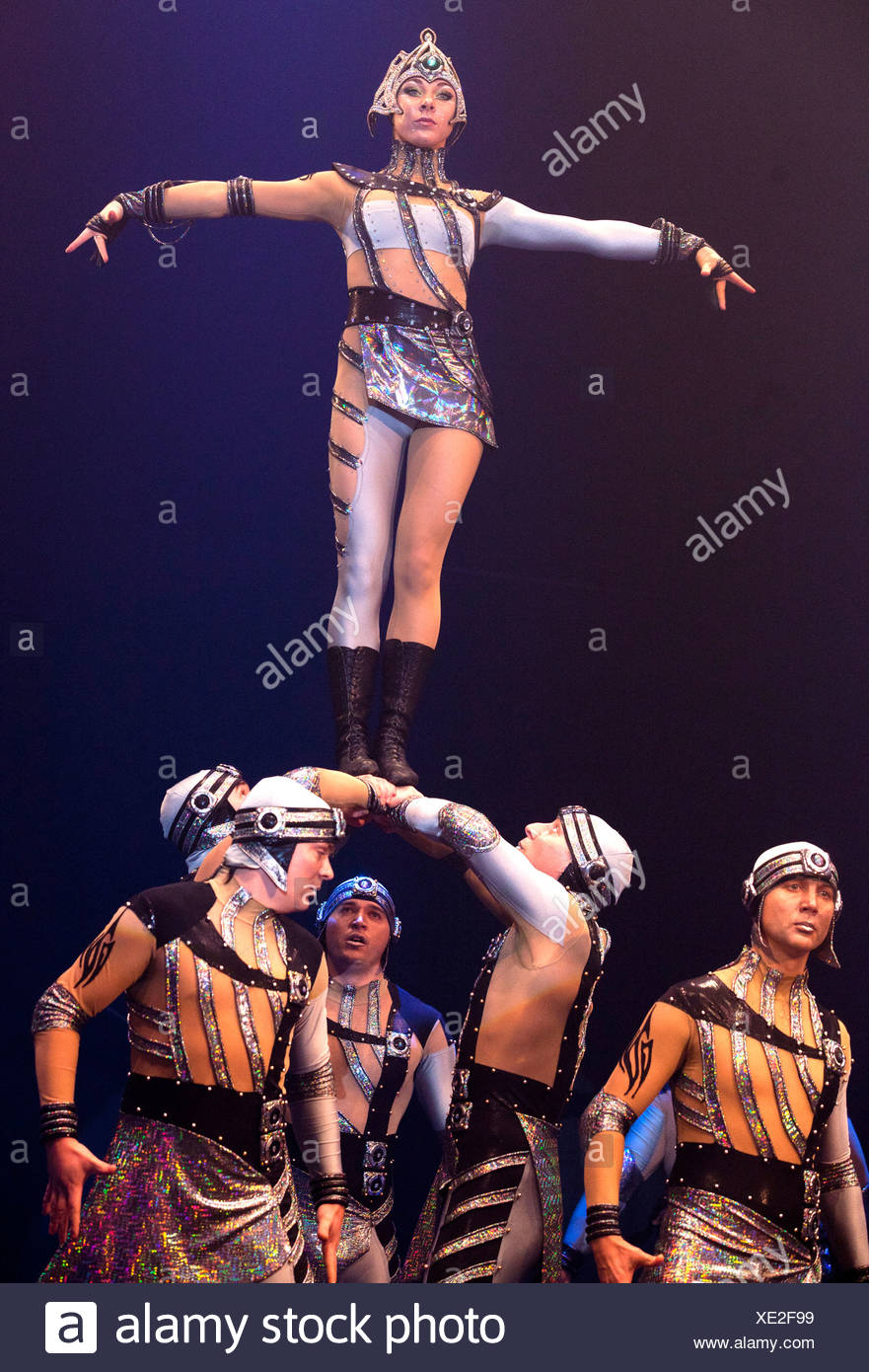 Dosov Troupe, FlicFlac Christmas Circus, premiere of Schrille Nacht, eilige Nacht, Westfalia Hall, Dortmund Stock Photo