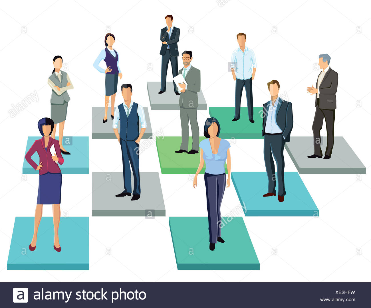 Together, Business contacts - Stock Image