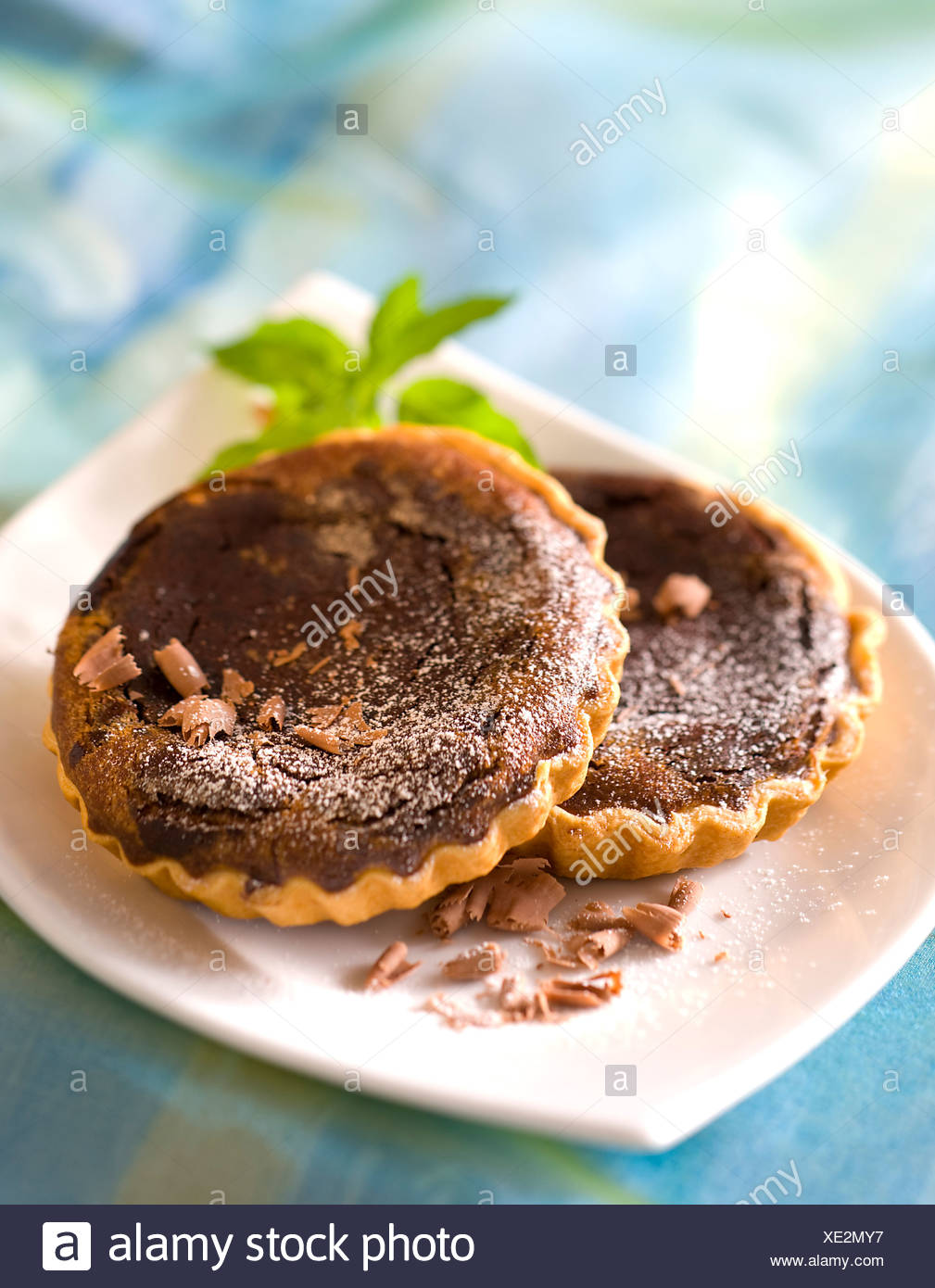 Chestnut and Chocolate Tarlets - Stock Image