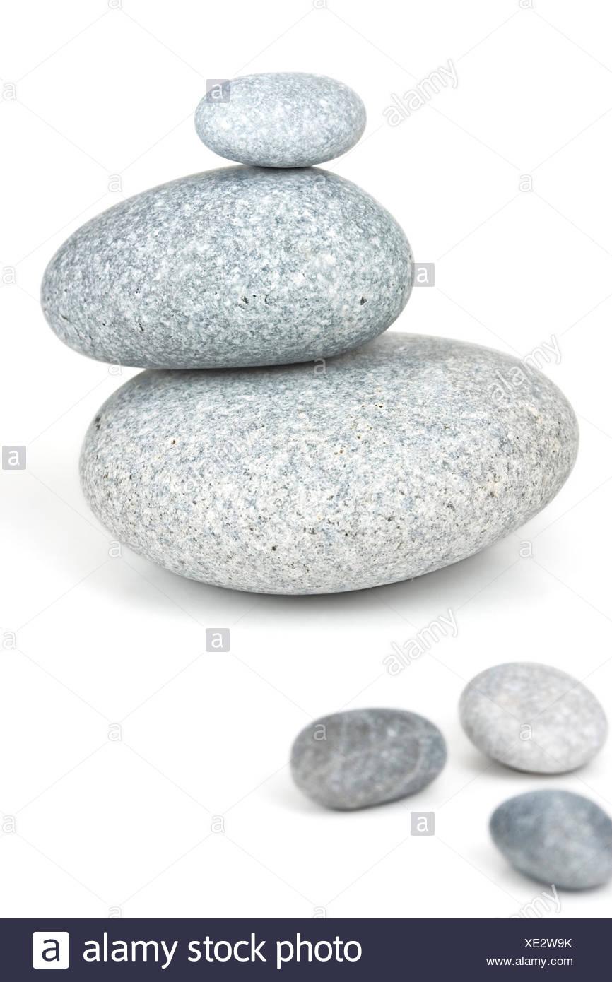 balance,stone pile - Stock Image