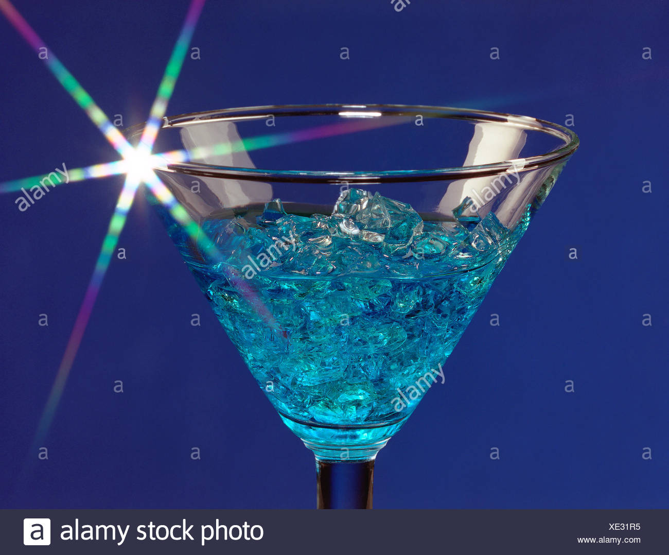 blue devil cocktail Stock Photo: 284038361 - Alamy