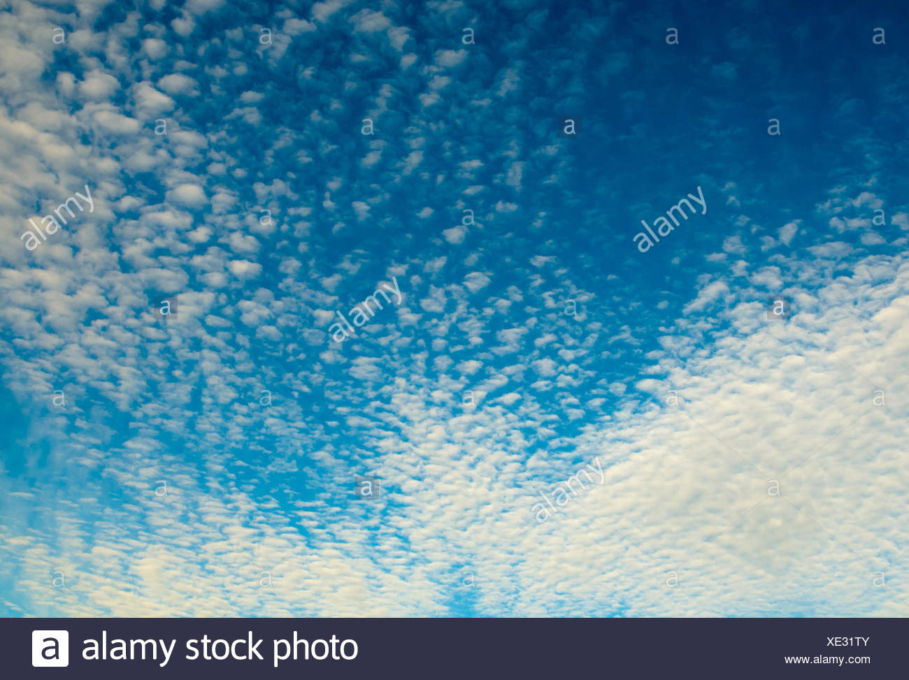Cloudy sky background - Stock Image