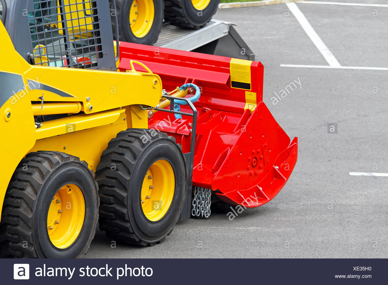 Skid steer attachment Stock Photo