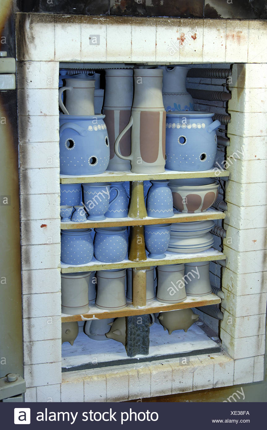 Furnace for ceramic goods, Kohren-Salis, - Stock Image