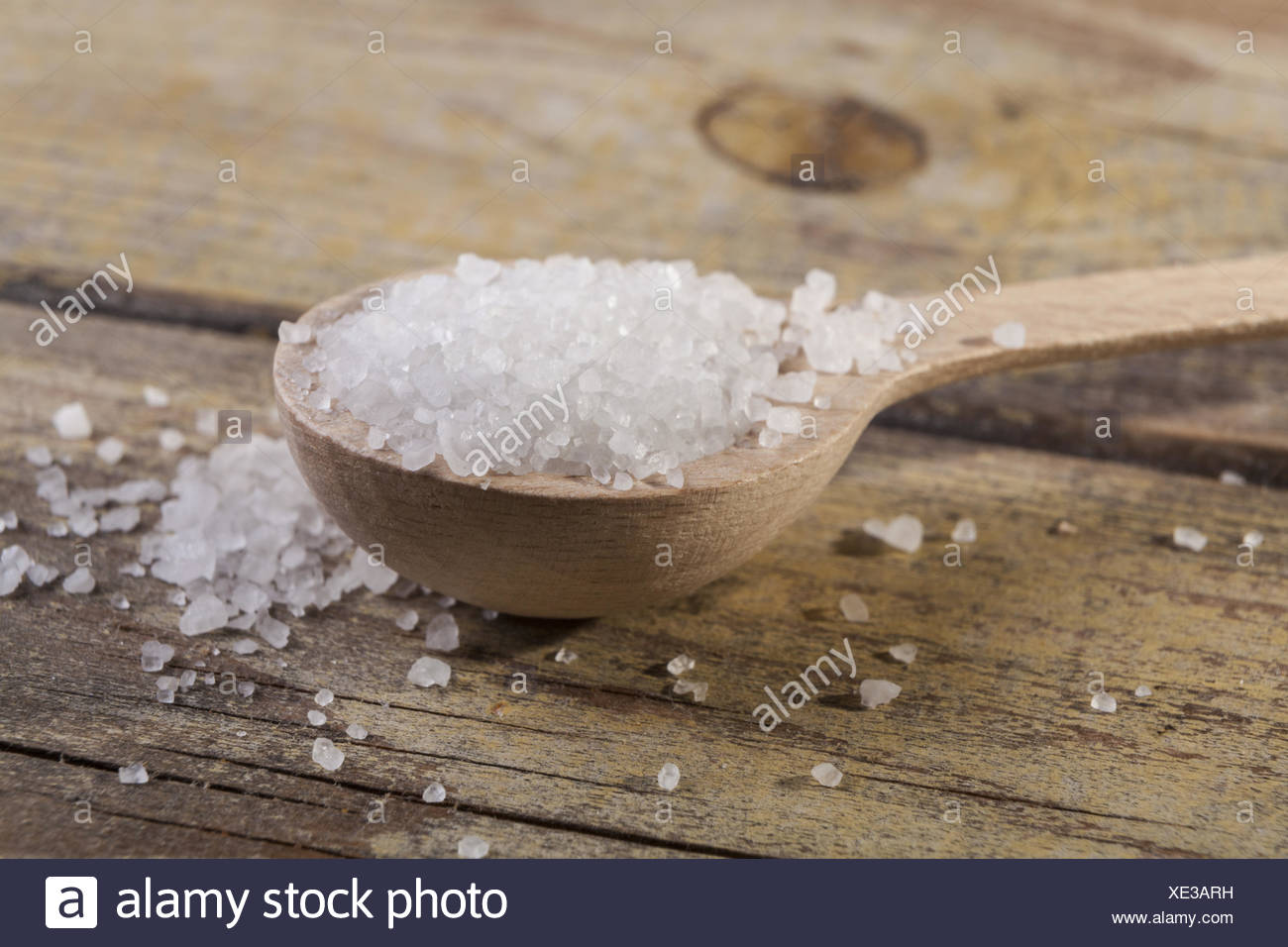 Salt Cristals - Stock Image