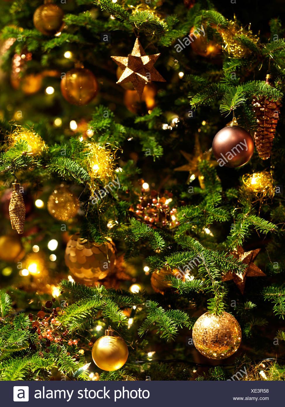Christmas Tree Decorations Stock Photo Alamy