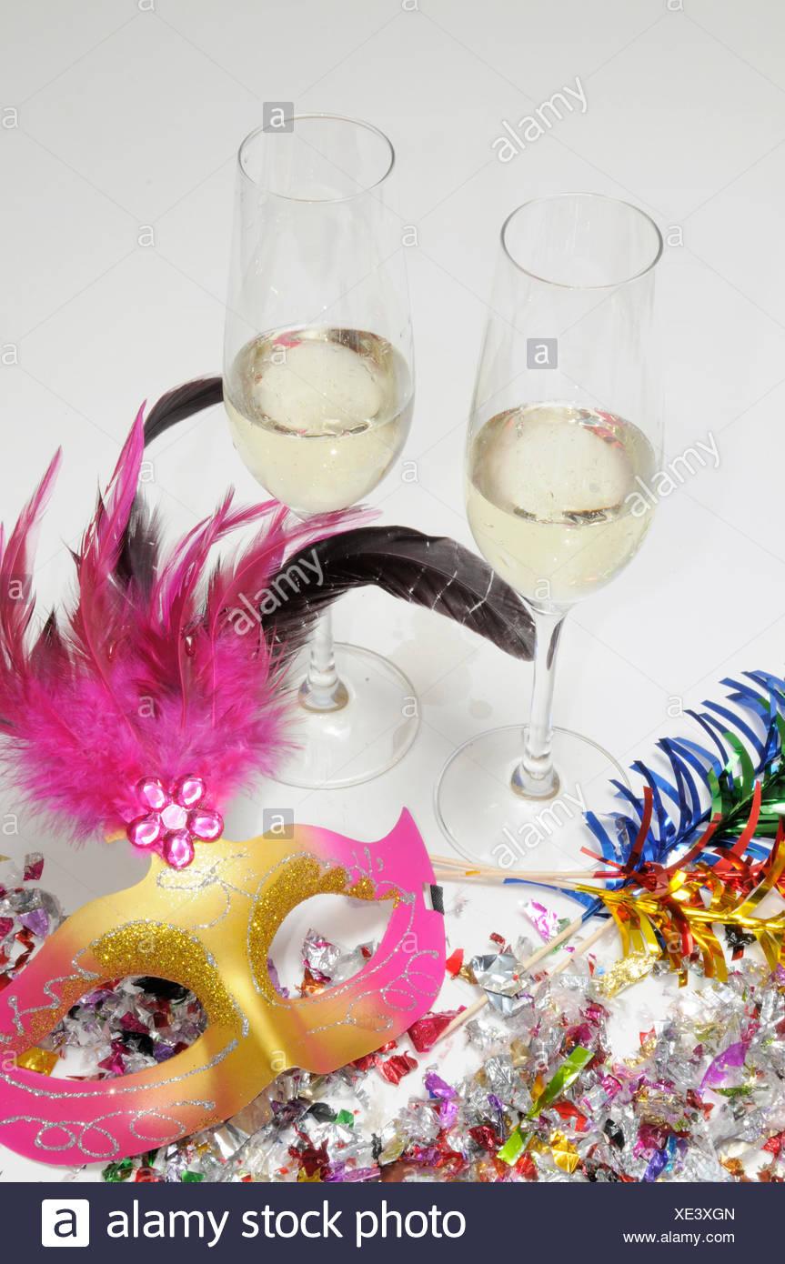 sekt, silvester, neujahr, sektgläser, jubiläum, champagner, feier ...
