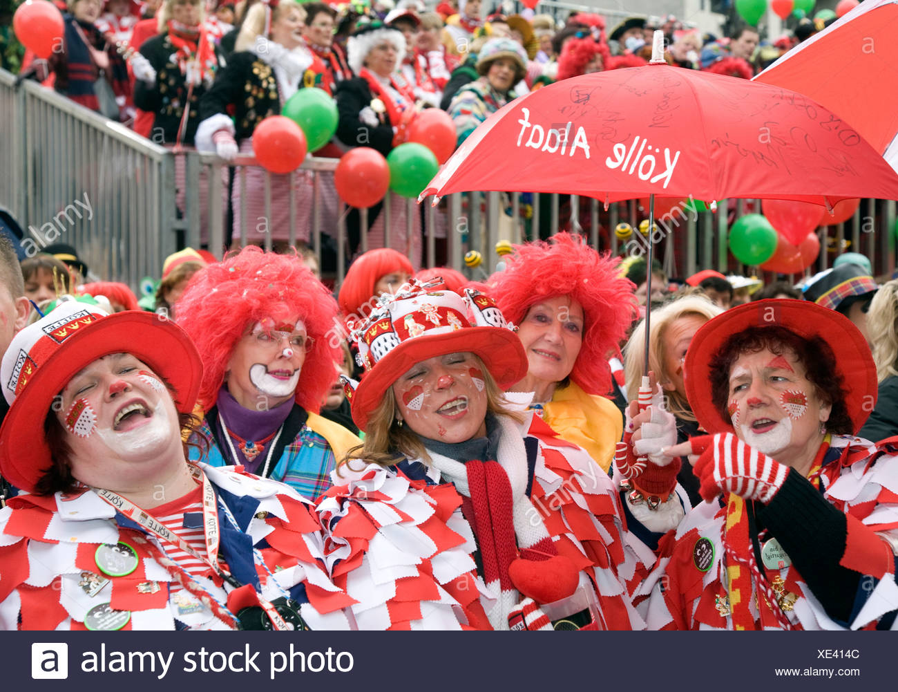 Carnival on Fat Thursday, Cologne, Germany Stock Photo