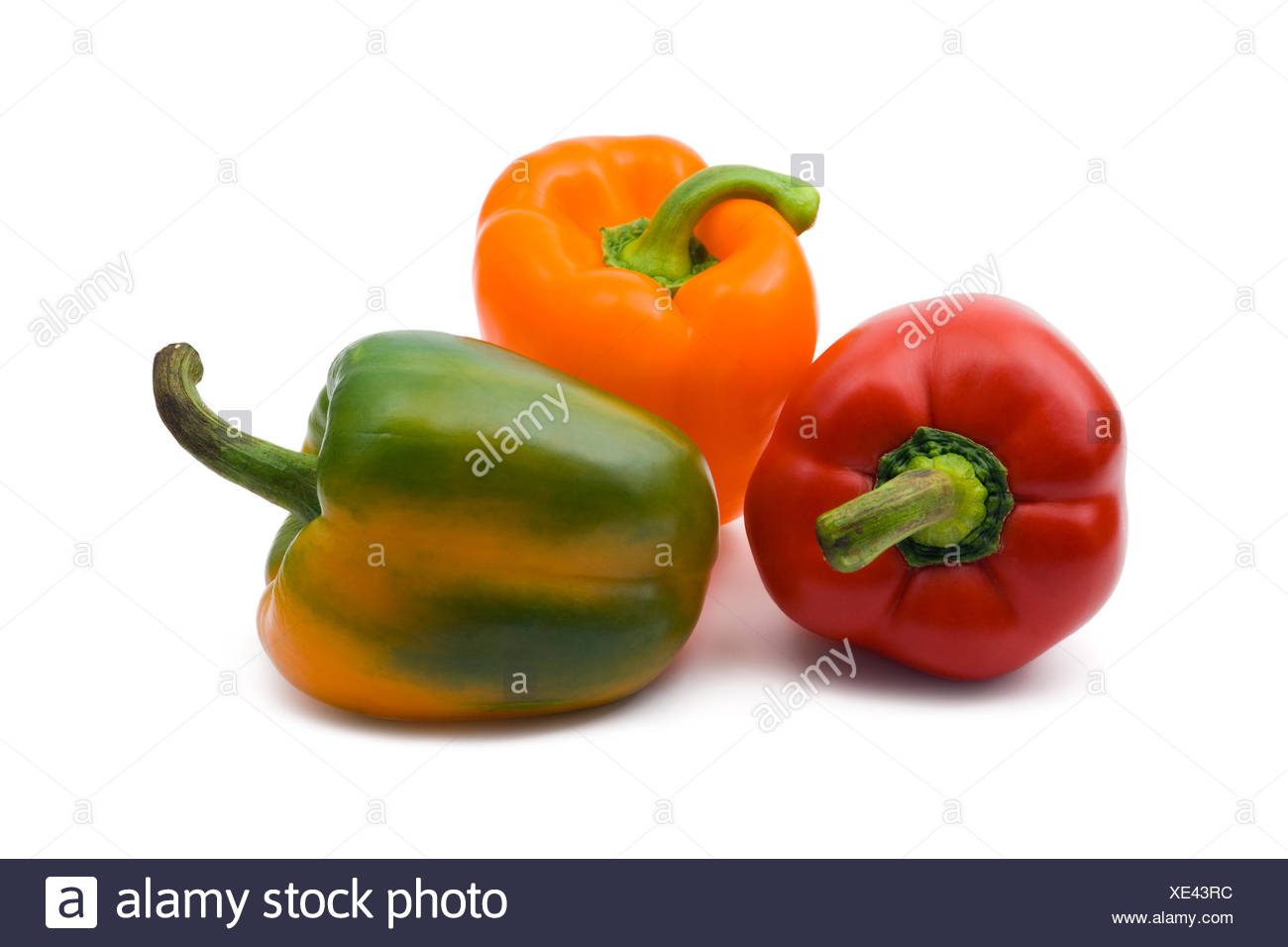 Three peppers - Stock Image