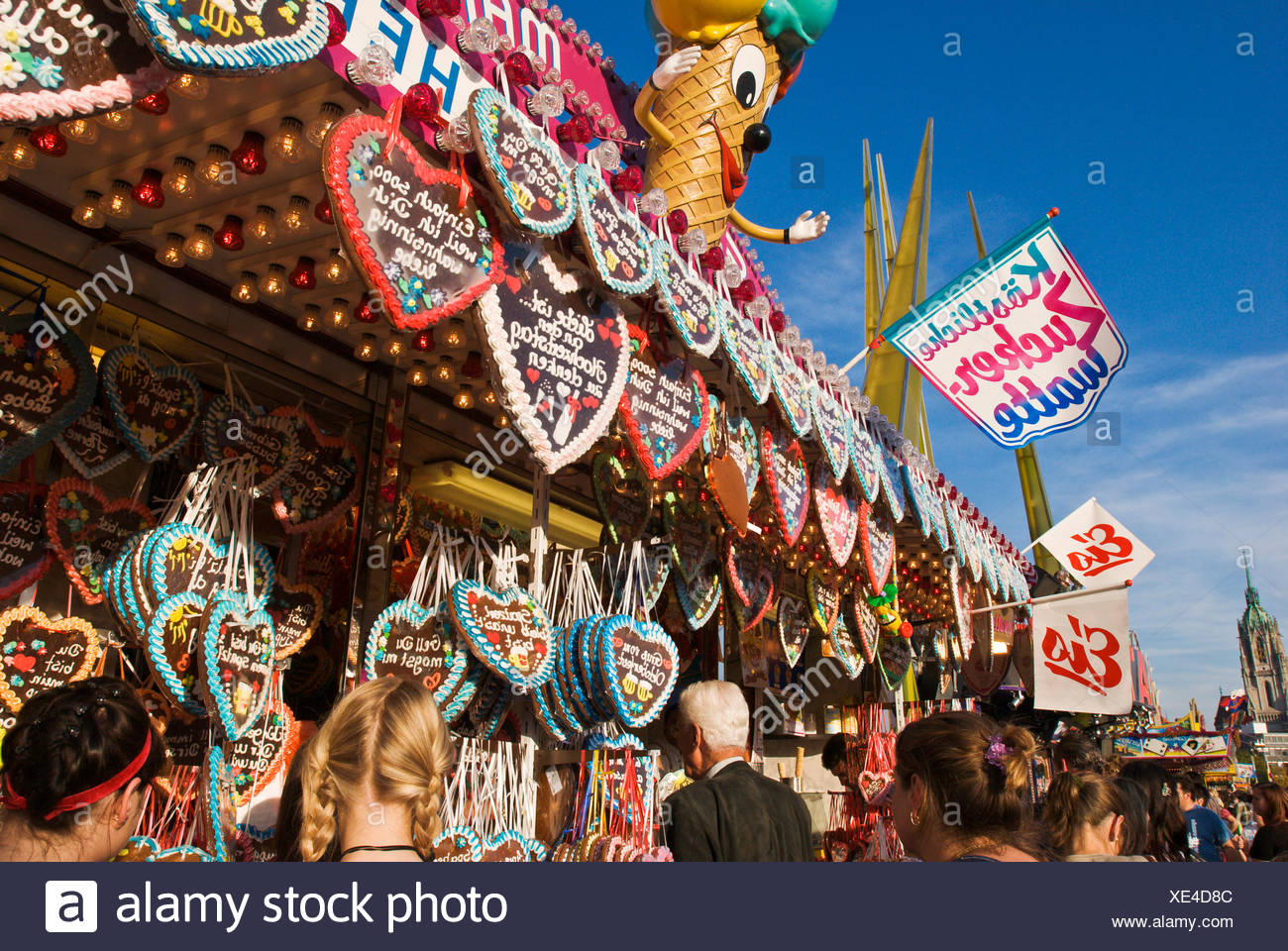 Gingerbread stand, Octoberfest, Munich, Bavaria, Germany - Stock Image