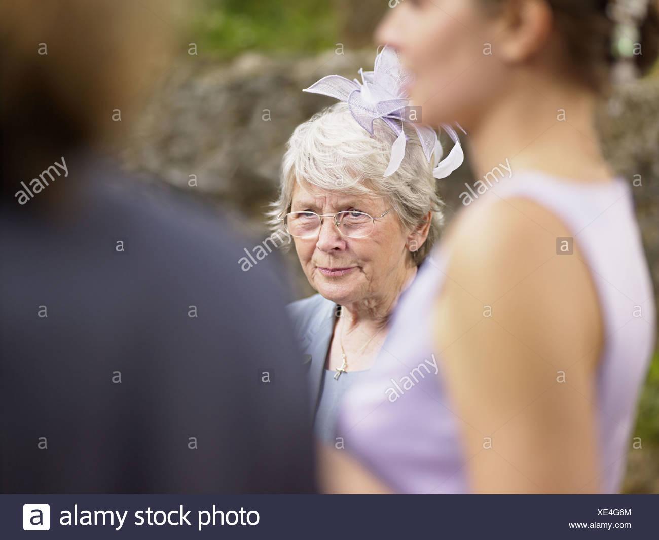 Guests at wedding - Stock Image
