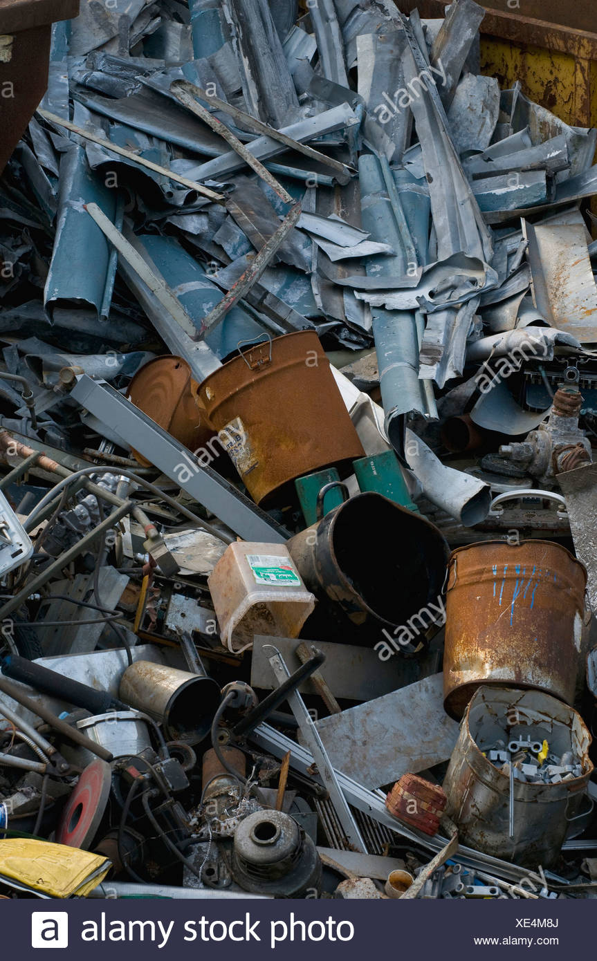 Metal collection, scrap heap - Stock Image