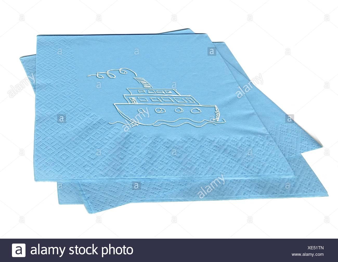 napkins - ship 2 - Stock Image