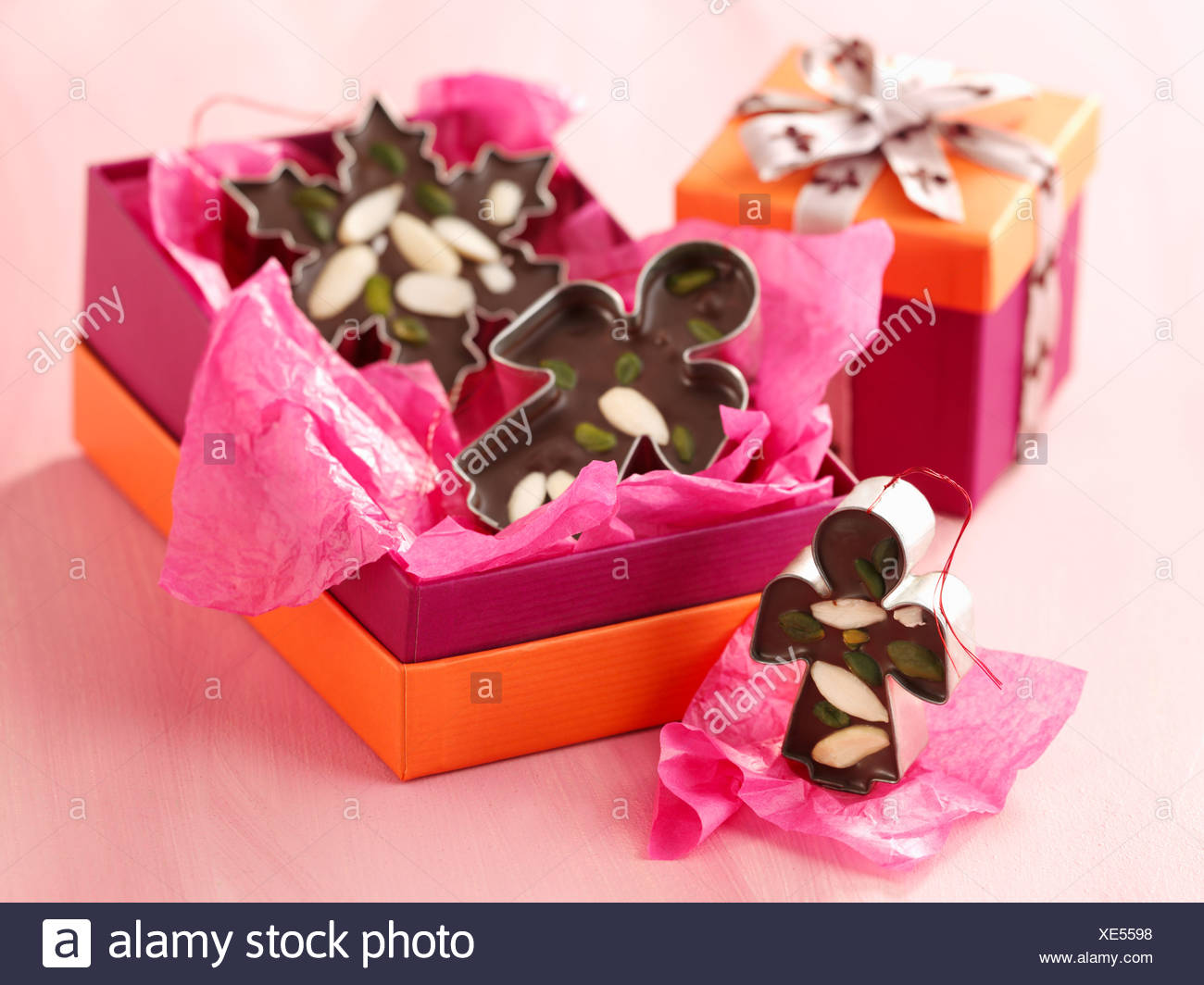 Nuts Component Homemade Chocolate Stock Photos & Nuts Component ...