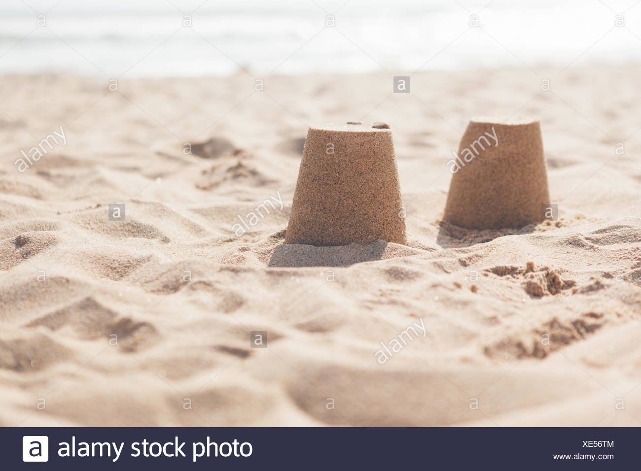 Heap Of Sand At Beach - Stock Image