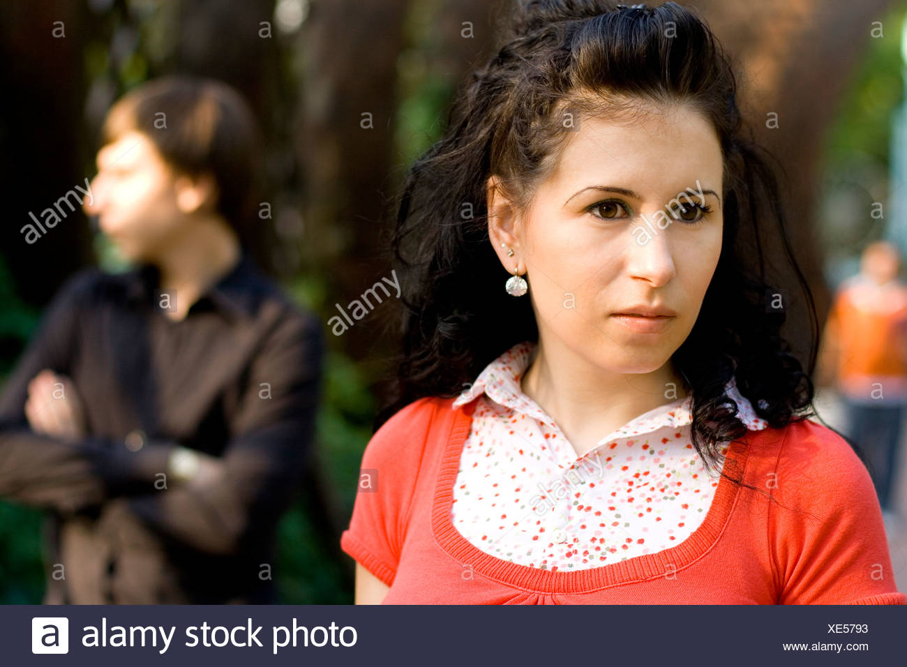 unhappy young couple - Stock Image