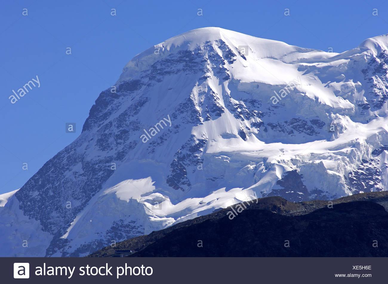 Peak Breithorn, Zermatt Stock Photo