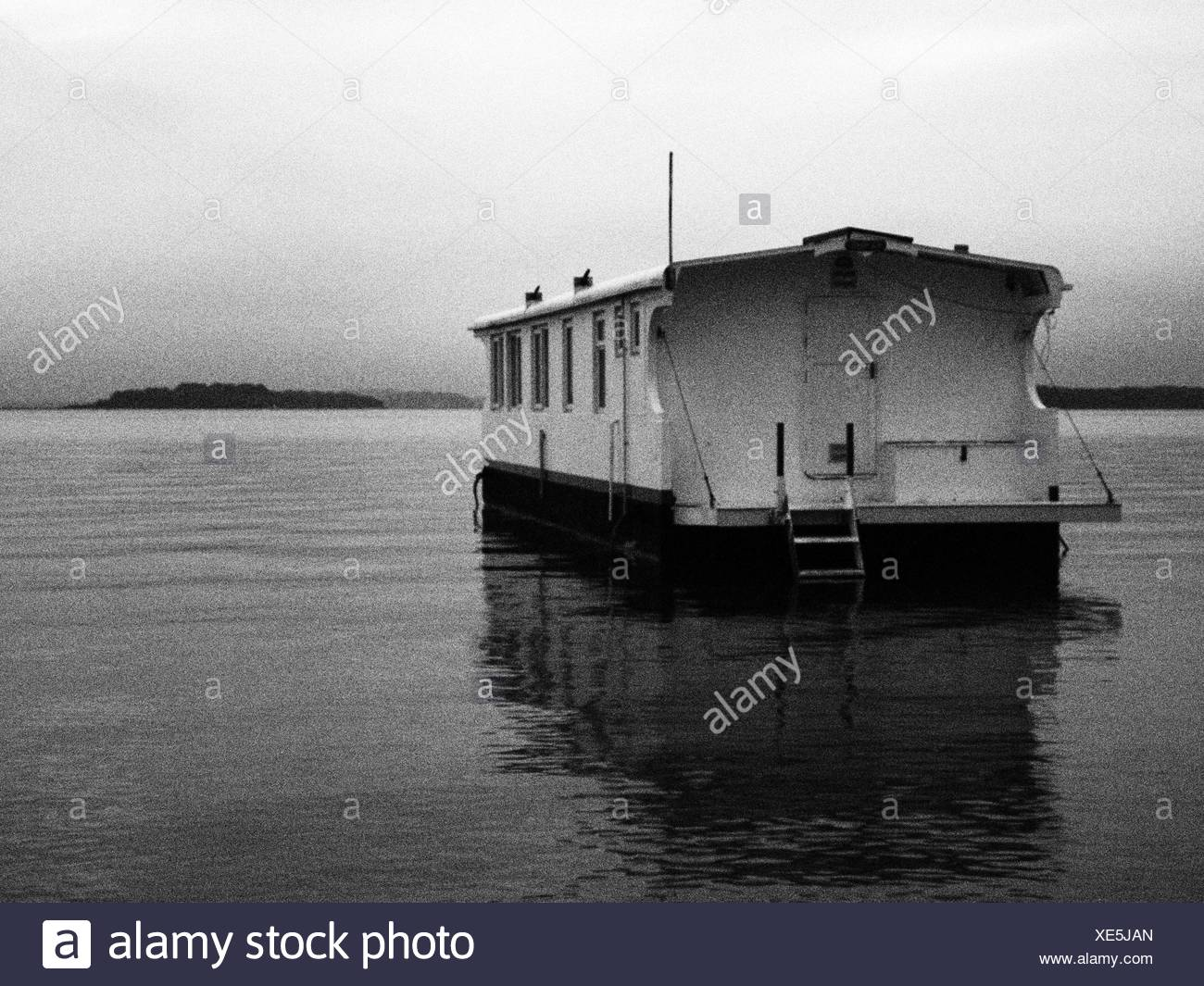 Grainy Image Of Living Boat - Stock Image