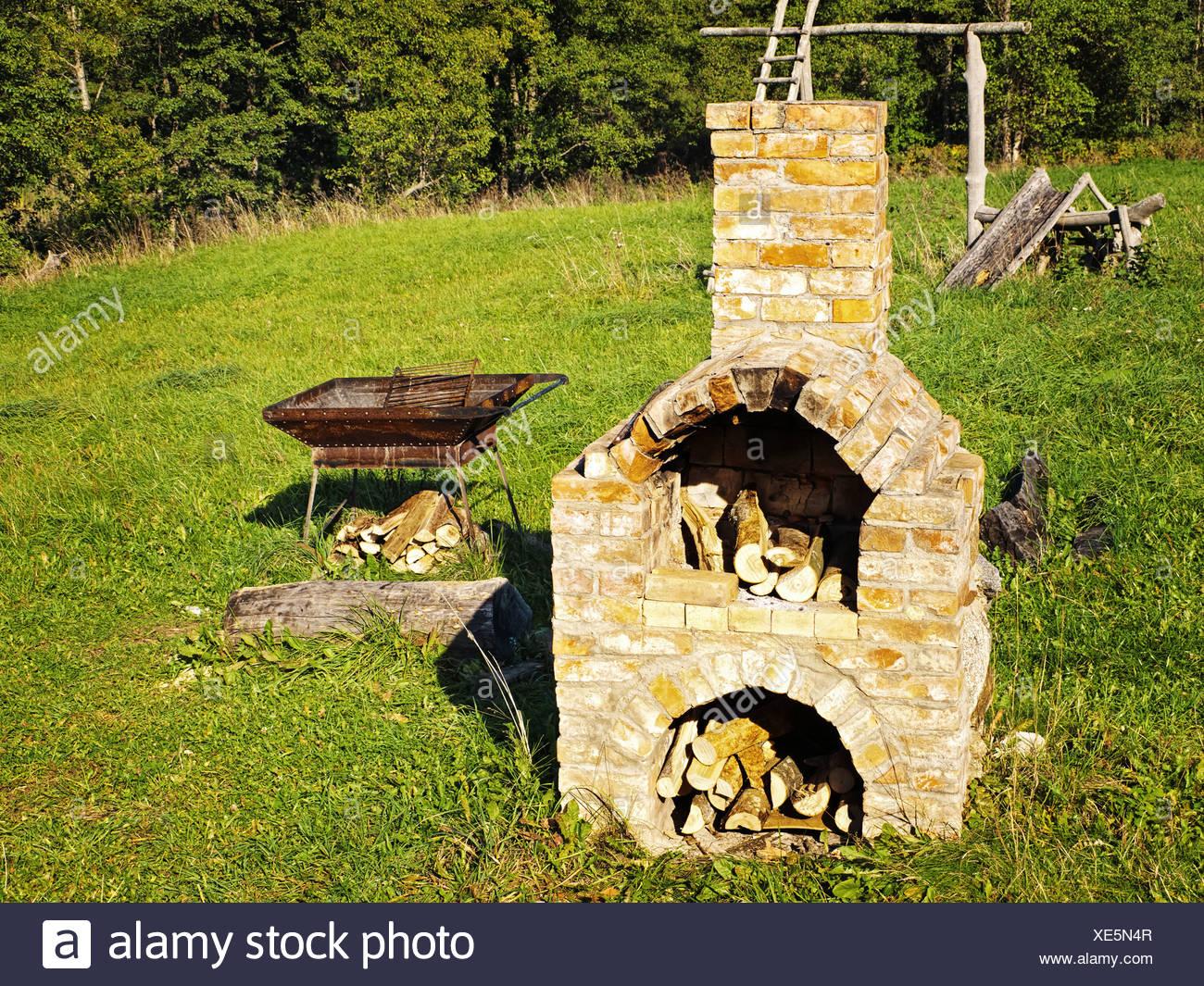 old stove Stock Photo