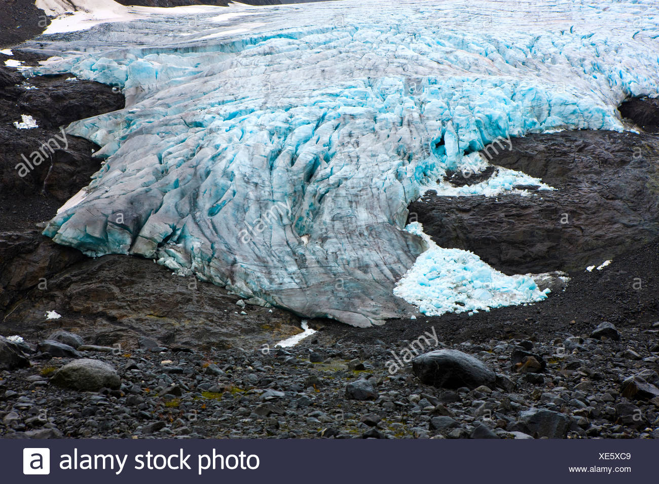 Glacier tounge, Norway, Scandinavia, Europe Stock Photo