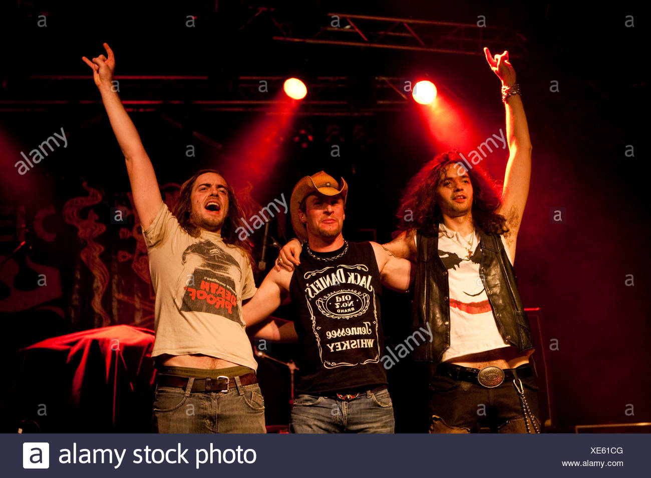The Swiss Psychodelic Straight Rock'n'Roll band The Vibes live in the Transilvania venue in Erstfeld, Uri, Switzerland - Stock Image