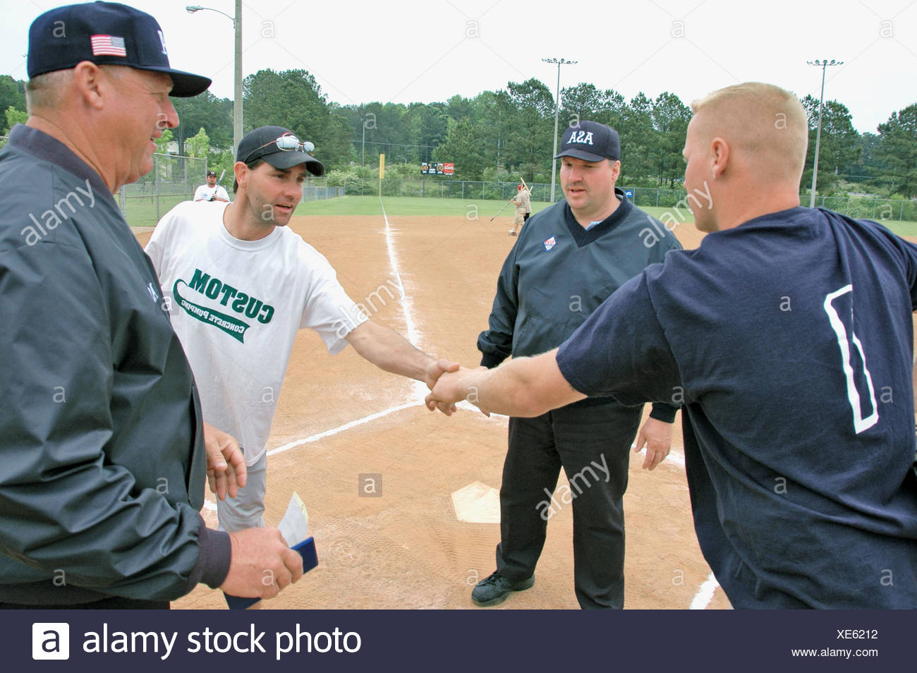 softball umpires for ASA in the US during games and in