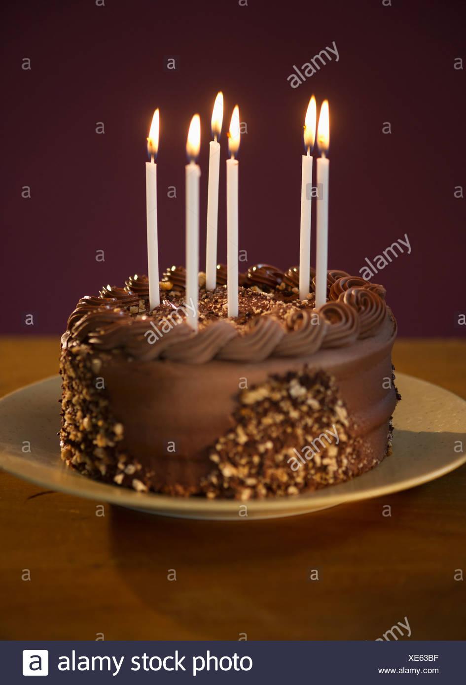 Stupendous Studio Shot Of Chocolate Birthday Cake Stock Photo 284105459 Alamy Birthday Cards Printable Trancafe Filternl