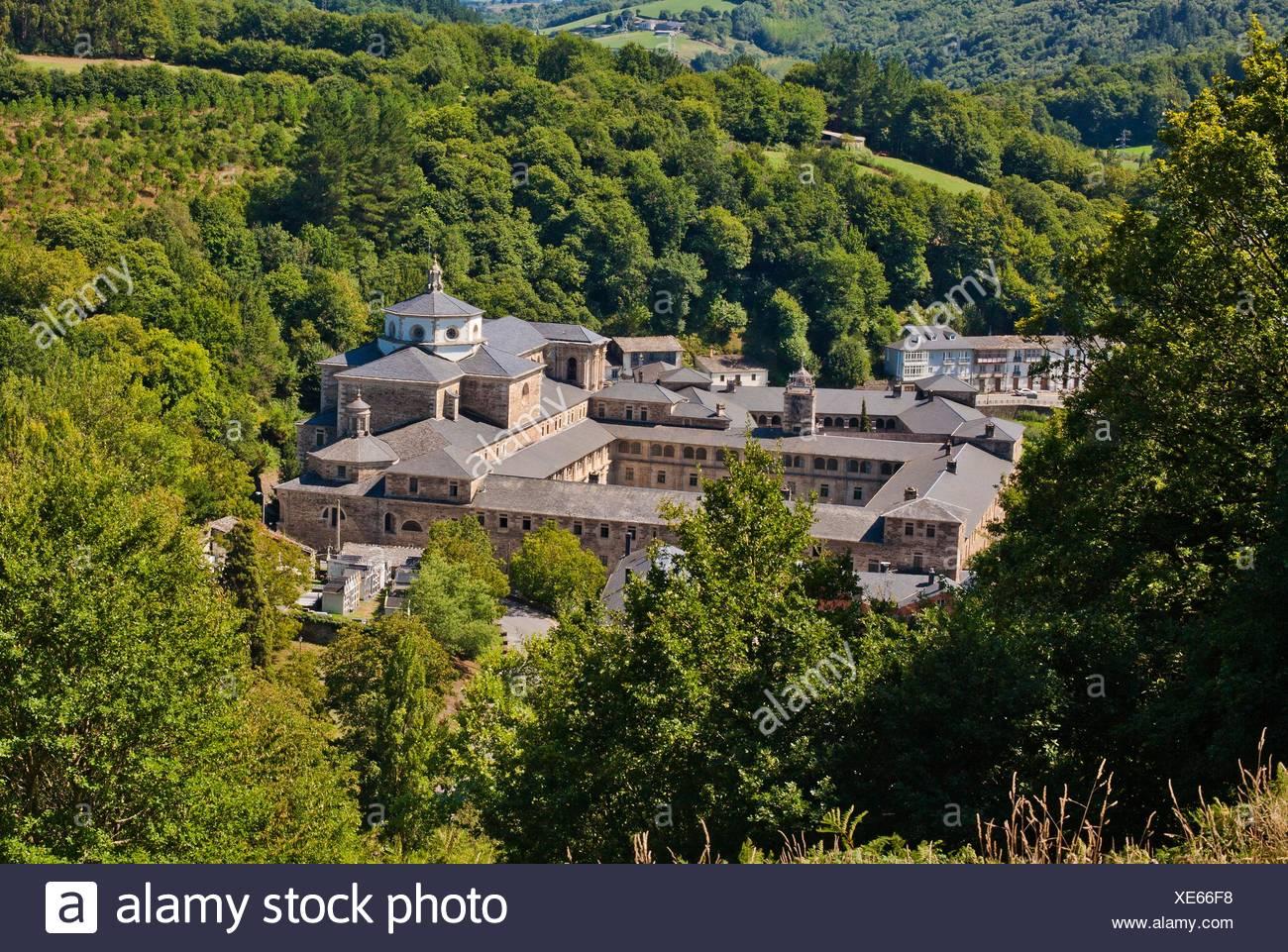 Monastery Of San Julian Samos Saint James Way Camino De Santiago French Way Lugo Province Galicia Spain Europe Stock Photo 284107916 Alamy