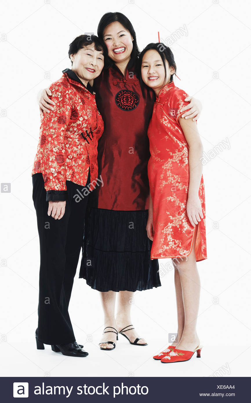 Portrait of a mother with her daughter and granddaughter - Stock Image