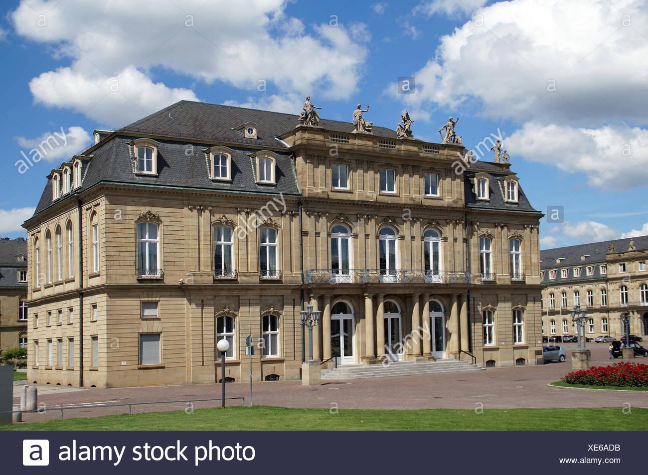 New Palace Stuttgart - side panel - Stock Image