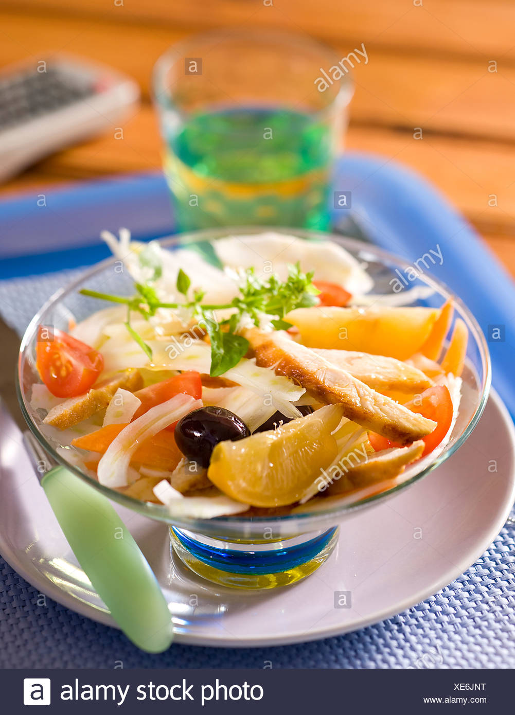 Chicken Salad with Candied Lemon - Stock Image