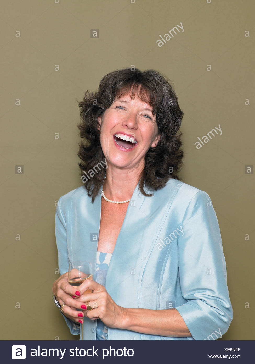 Portrait of a mature woman - Stock Image